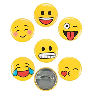 Fun Express Emoji Mini Buttons - 48 pc: Toys & Games