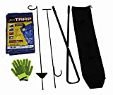 World Outdoor Products Six Piece Campfire Tool Set with Handcrafted, Black Powder Coated, 40'' Steel Tools, Gloves, Tarp and Carry Bag.