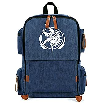 XCOSER Monster Hunter Backpack Anime Cosplay Schoolbag Canvas Bookbag Purse