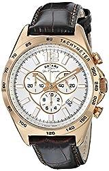 Rotary Men's gs90073/06 Analog Display Swiss Quartz Brown Watch