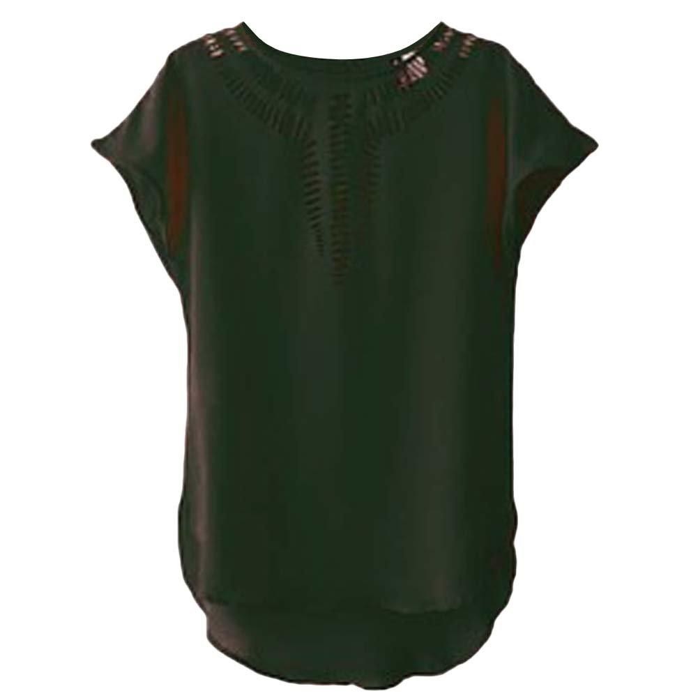 Mujer De Manga Corta De Agujeros De La Camiseta Blusa Informal Suelta Tops Camiseta De La Camisa: Amazon.es: Deportes y aire libre
