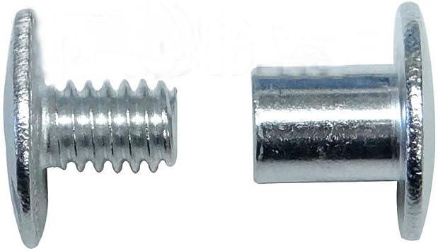 "Post Binder Posts Screw 100 2 1//2/"" Aluminum Screw Posts Binding Screws"
