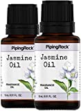Piping Rock Jasmine Fragrance Oil 2 Dropper Bottles x 1/2 oz (15 ml)