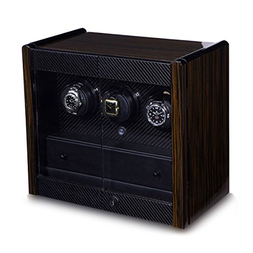 - Orbita Avanti 3 Macassar/Carbon Fiber Programmable Watch Winder W70010
