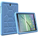 Galaxy Tab S2 9.7 Case - Poetic [Turtle Skin Series]-[Corner/Bumper Protection][Tactile side Grip][Sound-Amplification][Bottom Air Vents] Protective Silicone Case for Samsung Galaxy Tab S2 9.7 Blue