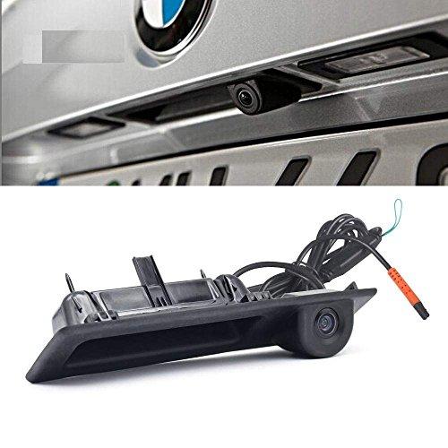 (TheCoolCube CCD HD Car Trunk Handle Camera Rear View Camera for BMW 3 5 X3 Series F10 F11 F25 F30 X5 X1 E82 E88 E84 E90 E91 E92 E93 E60 E61 E70 E71 E72(2011-2015) New Parking Backup)