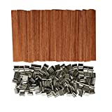 Gnognauq 100 Piece 5 inch Wood Candle Wicks with Tabs for Candle Making and Candle DIY