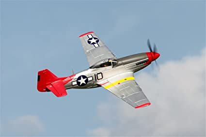Amazon com: FMS P-51D Mustang Red Tail V8 RC Airplane 6CH