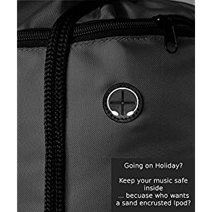 Very Strong Top Quality Drawstring Backpack Sackpack Gym bag for Adults & Children. Best School Kids PE Kit Bag with No Logo, Perfect for Sports, Beach Holidays, Swimming, Travel. ProGym by Zavalti