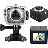 OVTECH 1.5 Inch Wireless 3D VR 360 Degree Panoramic Digital Video Outdoor Sports Waterproof Ultra HD 4K Mini Wifi DV Action Camera