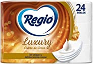 Regio Regio Papel Higiénico Creme De Cocoa, 24 Rollos, Logero Aroma A Cocoa, Hojas Triples, color, 24 count, p
