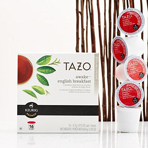 Tazo Awake English Breakfast Black Tea K-Cups, 96 Count by T