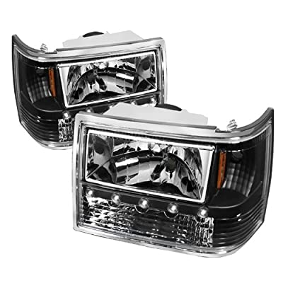 Jeep Grand Cherokee 1PC Crystal Headlights Black Housing With Clear Lens