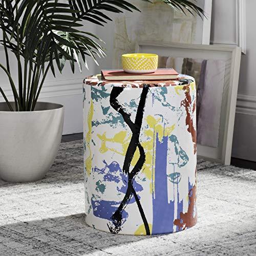Safavieh Kes Modern Abstract Ceramic Decorative Garden Stool, Multicolored