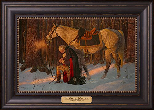 12168 - The Prayer at Valley Forge - 12 x 17 Textured Litho, Black w/gold frame