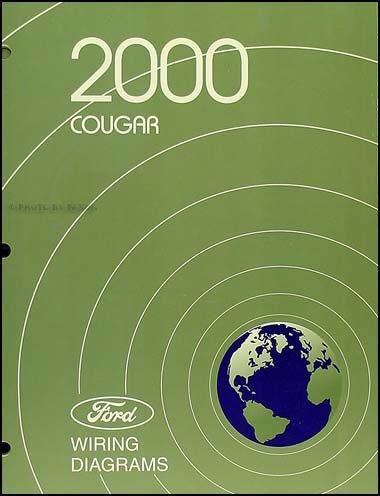 2000 mercury cougar wiring diagram manual original paperback – 2000
