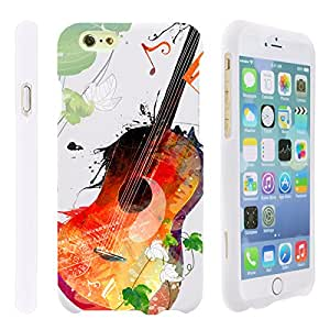 MINITURTLE, 3 in 1 Slim Fit Graphic Design Image 2 Piece Snap On Hard Phone Case Cover, Stylus Pen, and Clear LCD Screen Protector for iOS Smartphone Apple iPhone 6 Plus 5.5 Inches (Serene Guitar)