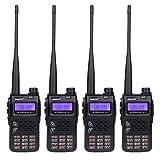 JUENTAI JT-UV71 10-KM Range FRS/GMRS Dual-band Two Way Radios Walkie Talkies (Black, Set of 4)