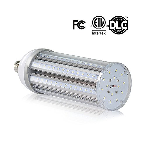 LVL LED Corn Light Bulb, 45W E26 Base 4500LM Daylight 5000K,for Garage Workshop Street Lamp Post Lighting Factory Warehouse High Bay