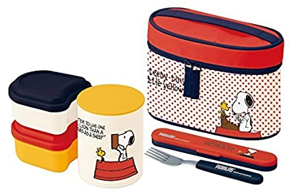 68a8b816b536 Snoopy Stainless Thermal Bento Lunch Box Set (3 Food Containers ...