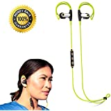 Bluetooth Headphones V4.1 Best New Wireless In Ear Secure Fit Earbuds w/ Mic Workout Gym Exercise Running Fitness Sport iPhone Android + Comfortable Noise Canceling Lightweight Talk & Sweatproof