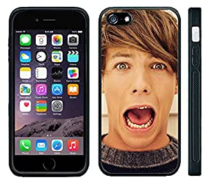 Apple iPhone 6 Black Rubber Silicone Case - 1D Louis One Direction Louis Picture