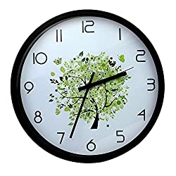 SUPERIORFE Modern Tree of Life Design Wall clock- Unique Decorative 12  Wall Clock