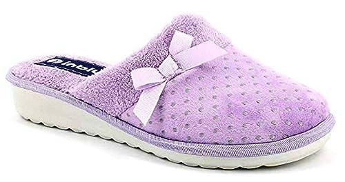 INBLU Pantofole Ciabatte Invernali da Donna Art. CI-72 Glicine (39 ... 24a72052bc4