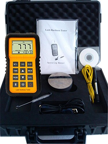 VETUS INSTRUMENTS LM100 Rebound Leeb Hardness Tester Durometer Portable Hardness Tester Gage with Backlight Steel Leeb Hardness Measuring Meter D Type impact device D Test Block Software and USB cable by VETUS INSTRUMENTS