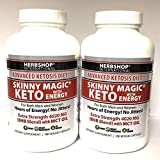 2 Bottles of Skinny Magic® Keto 180 Veg-Caps with Smooth Energy - (360 Capsules Total)