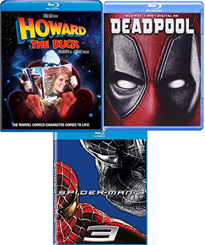 DeadHoward Super Hero Movie Pack Spider-Man 3 + Deadpool Blu Ray & Howard the Duck Triple Film Feature (Class Action Pack)