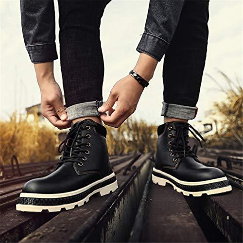 Pelle Pelle Stivaletti Camminata Stivali per Scarpe in Chukka Antiscivolo Uomo Uomo Uomo Inverno Stivali Stringati Stivaletti da Nero Martin Comodi da Caldi pI5wHqf