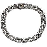 Engraved Anchor Link Mens Bracelet In Silver By Scott Kay