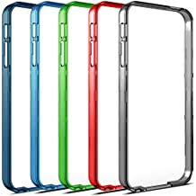 Alpatronix [BX120] Additional & Extra Color Bumpers for iPhone 5 / 5S Battery Case - 5 Pack (Assorted Colors - Gray, Red, Green, Blue, Black)