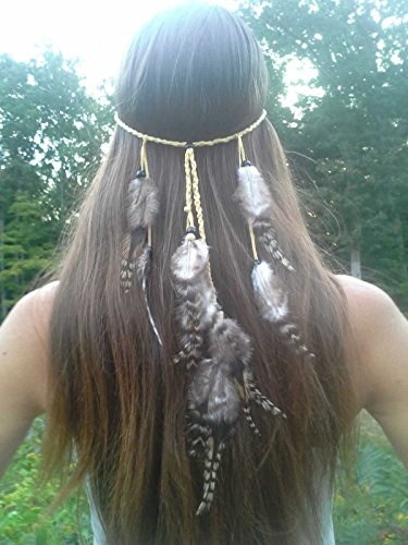 Brazilian Showgirl Costume (LittleB Indian Feather headbands Boho headpiece for women and girls.)