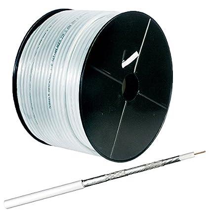 Manax® 100 m Cable coaxial 135 dB | TV/SAT de cable, 75