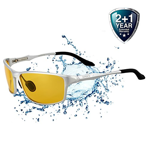 Driving Glasses for Men Anti Glare Polarized HD Safety Glasses at Night Yellow - Sunglasses Spare Parts