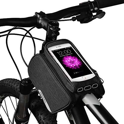 Bike Bag Touchscreen Bicycle Pannier Front Frame Double Bag with 1.5L Cycling Cycle Bags Bycicle Accessories