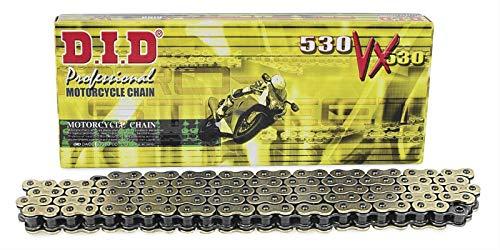 - D.I.D 530VXG-116 530 Pro-Street VX Series X-Ring Chain - 116 Links - Gold