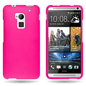 CoverON® HTC One Max T6 Rubber Protector Hot Pink Case - with Pry Tool