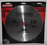 Craftsman 10 in. Steel Saw Blade - Heat-Treated Steel 72T - 26816