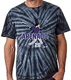 """The Silo TIE DIE BLACK Colorado Arenado """"AIR PIC"""" T-Shirt"""