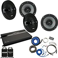 Kicker Two Pairs Of 44KSC6504 6.5 Speakers, a MB Quart ZA2-1600.4 4-Channel Amp & Wire Kit
