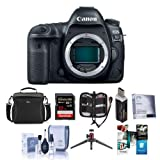 Canon EOS 5D Mark IV DSLR Body with Canon Log - Bundle with 32GB U3 SDHC Card, Camera Case, Table Top Tripod, Cleaning Kit, Memory Wallet, Screen Protector, Card Reader, Software Package