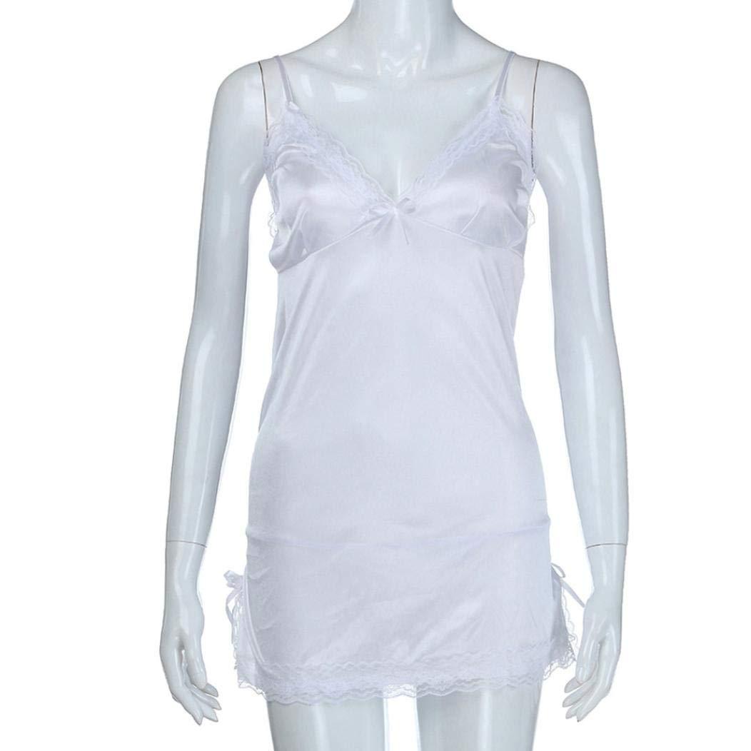 Lenceria Erotica de Mujer Sexy, ❤ Modaworld Vestido de Noche para Mujer Tallas Grandes de Encaje Lencería Babydoll camisón Falda Conjunto de Lencería ...