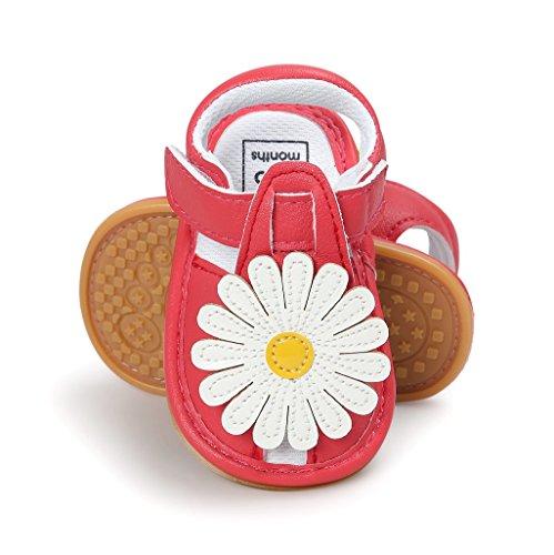 Bebé Prewalker Zapatos Auxma Primeros caminante de la princesa del niño del bebé zapatos Sandalias de los zapatos del arco para 0-6 6-12 12-18 meses H