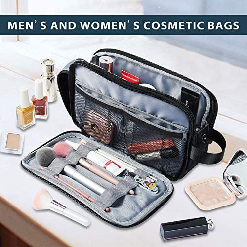Toiletry Bag for Men, IKINHO Mens Toiletry Bag, Men's Travel Toiletries Bag, Dopp Kit Water-Resistant Shaving Bag, Hanging Toiletry Bag, Perfect Travel Goods Cosmetic Bag for Men and Women (Black)