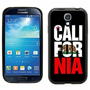 Samsung Galaxy S4 SIIII Black Rubber Silicone Case - Cali For Nia California Bear Flag