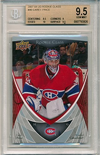 Upper Deck Rookie Class Card - 2007-08 Upper Deck Rookie Class Carey Price Rookie Card Graded BGS 9.5-9-10-9.5