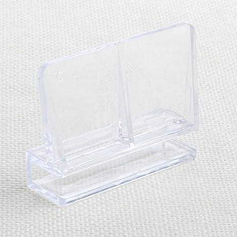 JAGETRADE Decoración para pecera 6/8/10/12 mm para acuario, acuario, acuario, acuario, acuario, acrílico, clips de cristal, soporte 1 pieza: Amazon.es: ...
